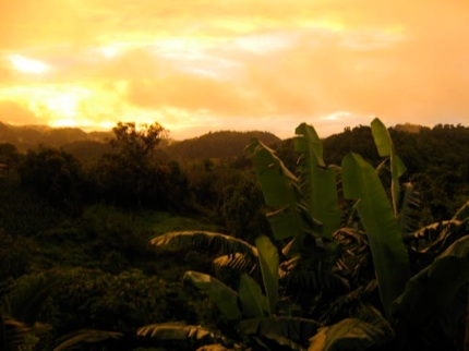 Sunset in Accomopong Town, Jamaica - Research area Dr. Benn -Torres
