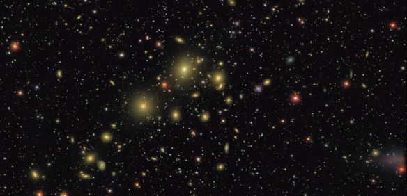 The Perseus cluster of galaxies, imaged by the SDSS.