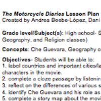 Motorcycle Diaries Lesson Plan