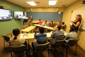 Students from Vanderbilt, the University of Virginia and Duke University share a teleconferenced course on K'iche' Mayan.