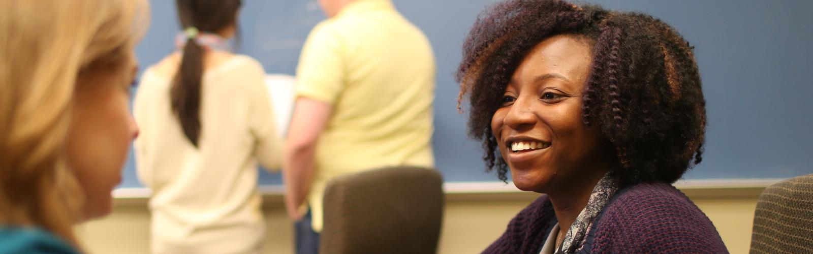 Economics graduate students talking