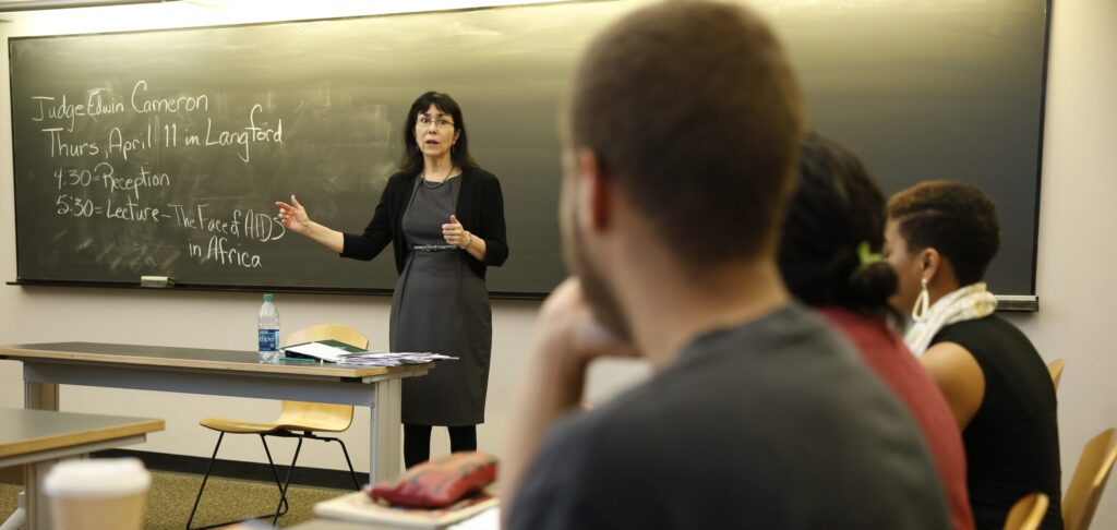 Lorraine Lopez in the classroom