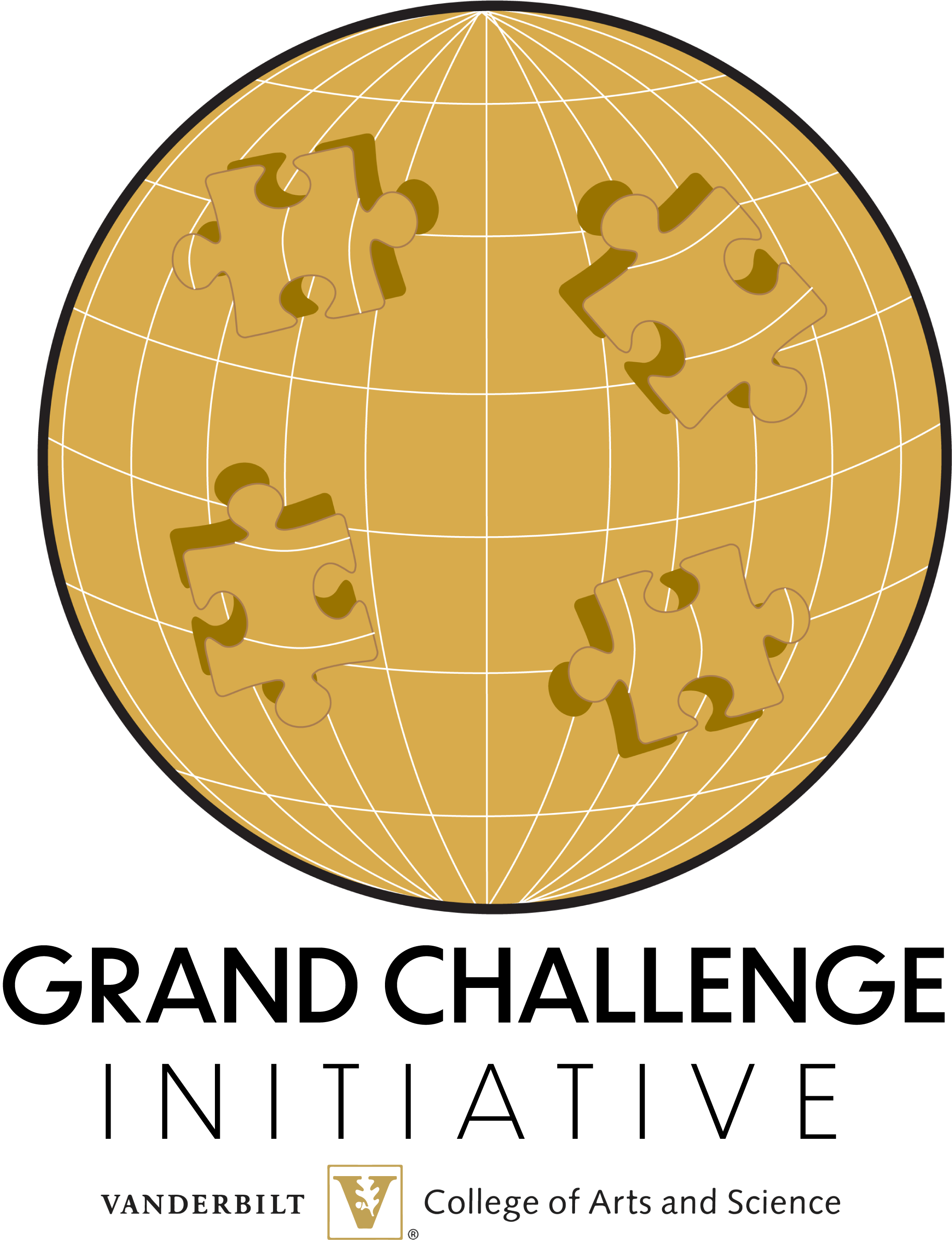 globe with puzzle pieces logo