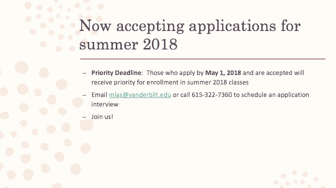 Now accepting applications for summer