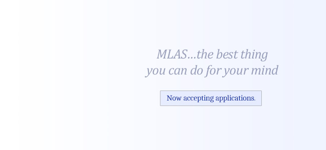 MLAS Summer 2017: Now Accepting Applications