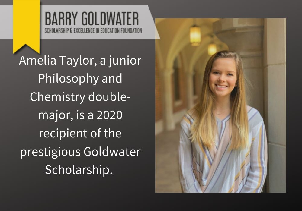 Taylor receives 2020 Goldwater Scholarship.