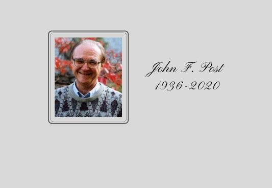 The Philosophy Department mourns the passing of John Post, Emeritus Professor of Philosophy.