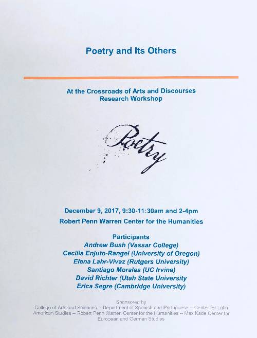 Poetry and its Others 2017