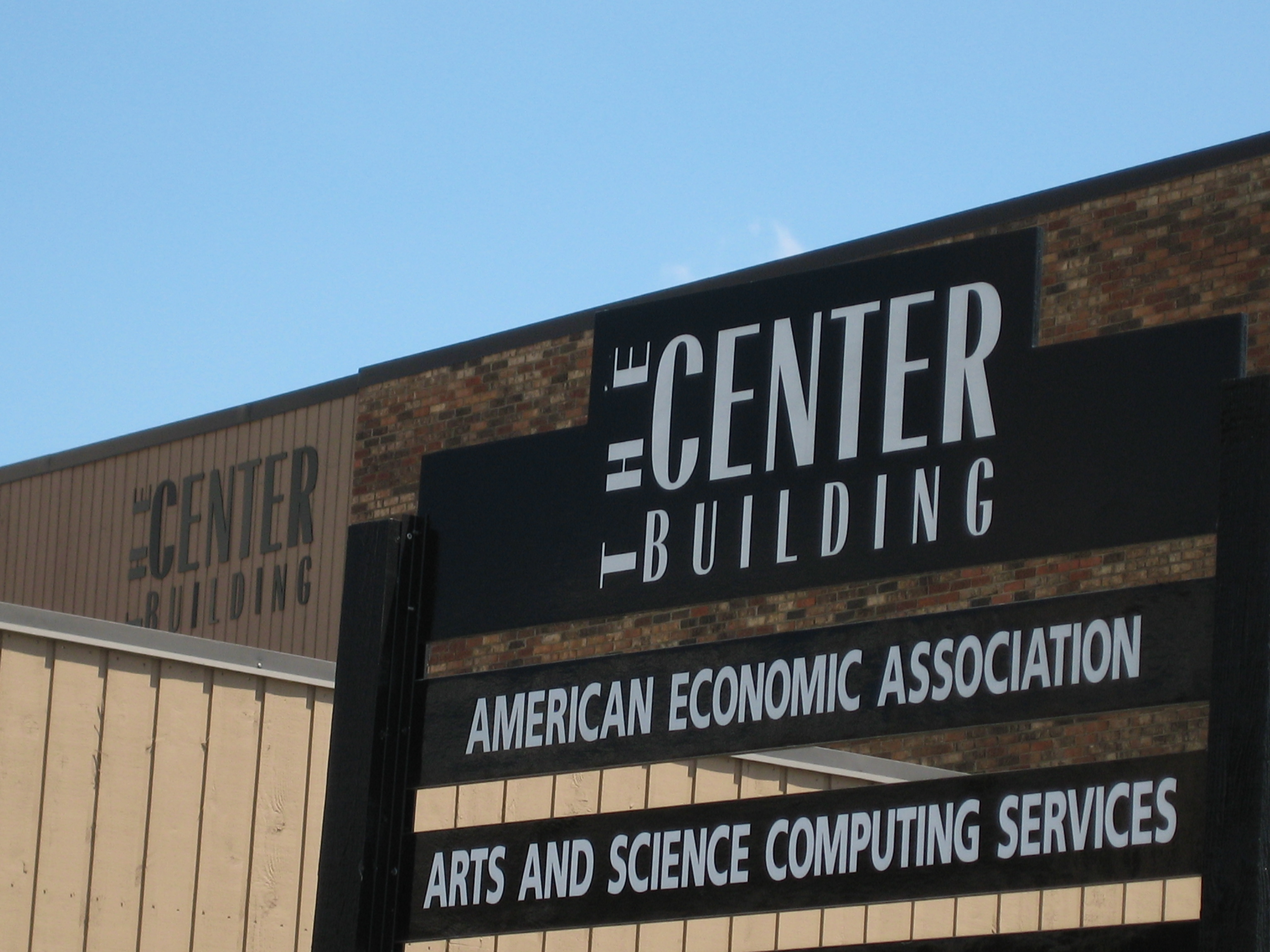 Center Building Sign and Building