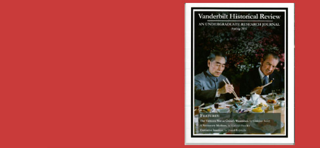 The Vanderbilt Historical Review released its first issue (Spring 2016) on January 12. Read more here.